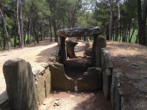 View of the dolmen from the funeral chamber